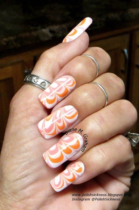Water Marble #prettynails #nailart - bellashoot.com