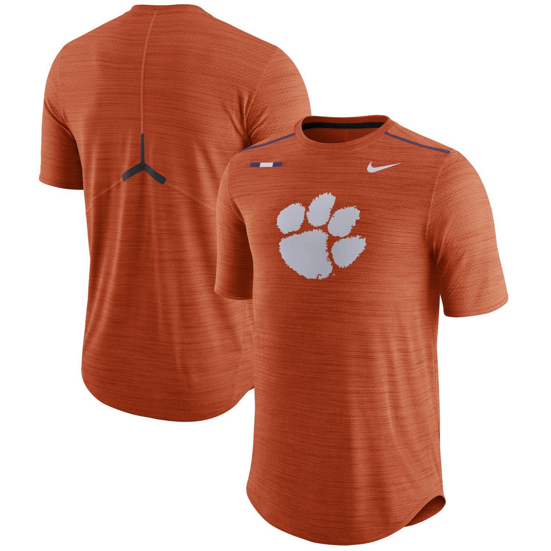 8ffa87e0 Men's Nike Heathered Orange Clemson Tigers Player Breathe Performance T- Shirt