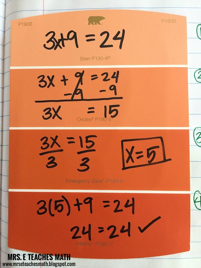 Two-Step Equations Interactive Notebook Page   Algebra, Equation and ...