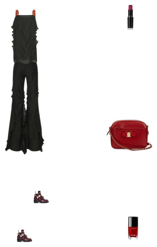 """Grace"" by zoechengrace on Polyvore featuring Blumarine, Salvatore Ferragamo, Wet n Wild, Balenciaga and Chanel"