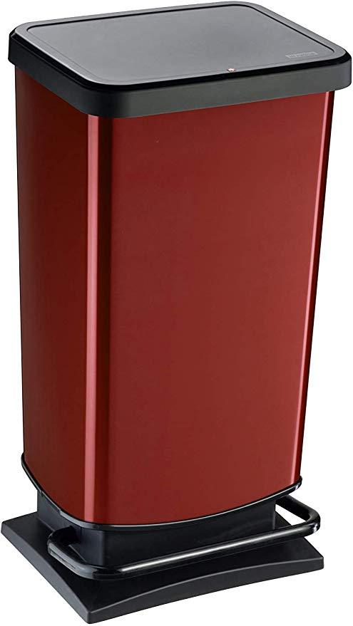 Rotho 1754110265 Poubelle De Recyclage Acier Inoxydable Rouge 40 Liter Amazon Fr Cuisine Maison Poubelle Cuisine Poubelle Abris Poubelle