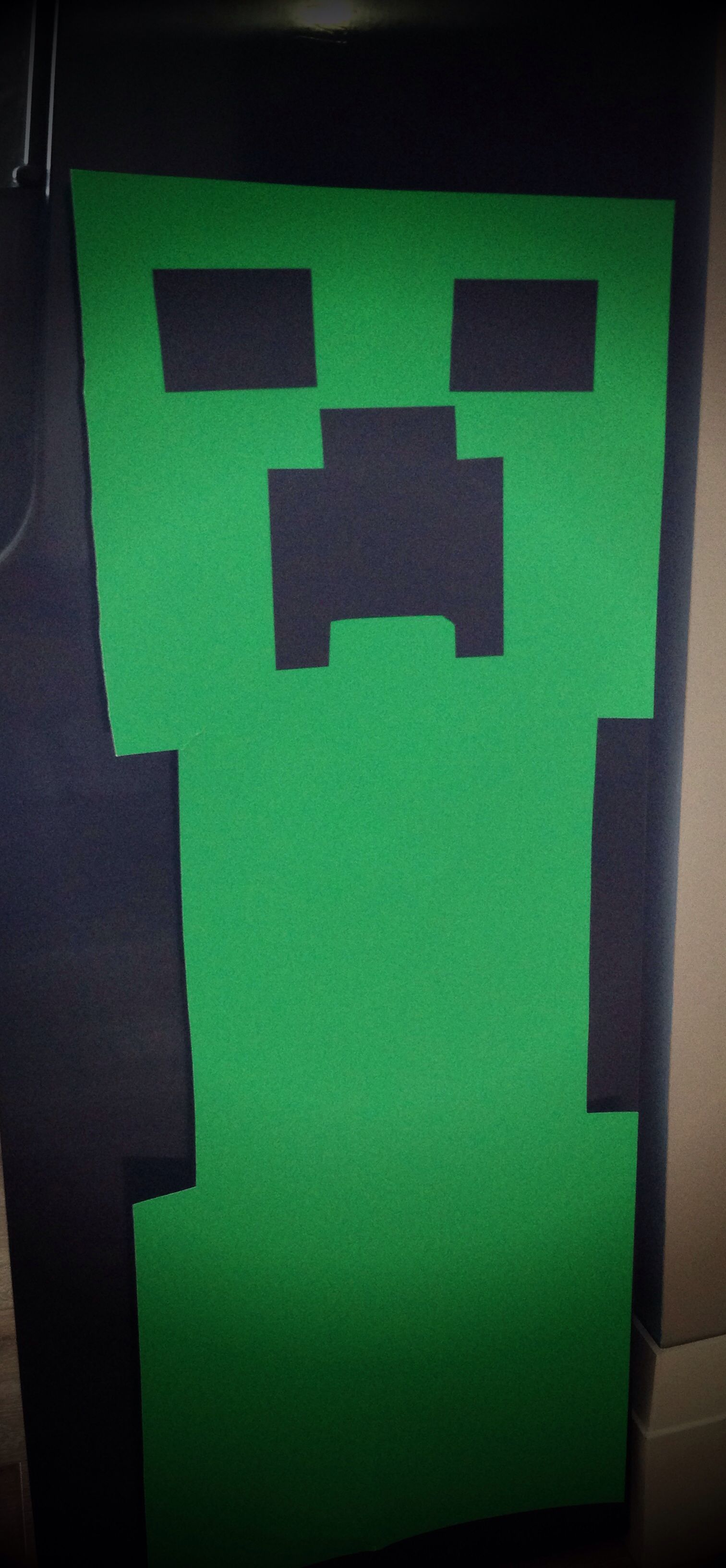 MineCraft party Creeper wall decoration for birthday party Made