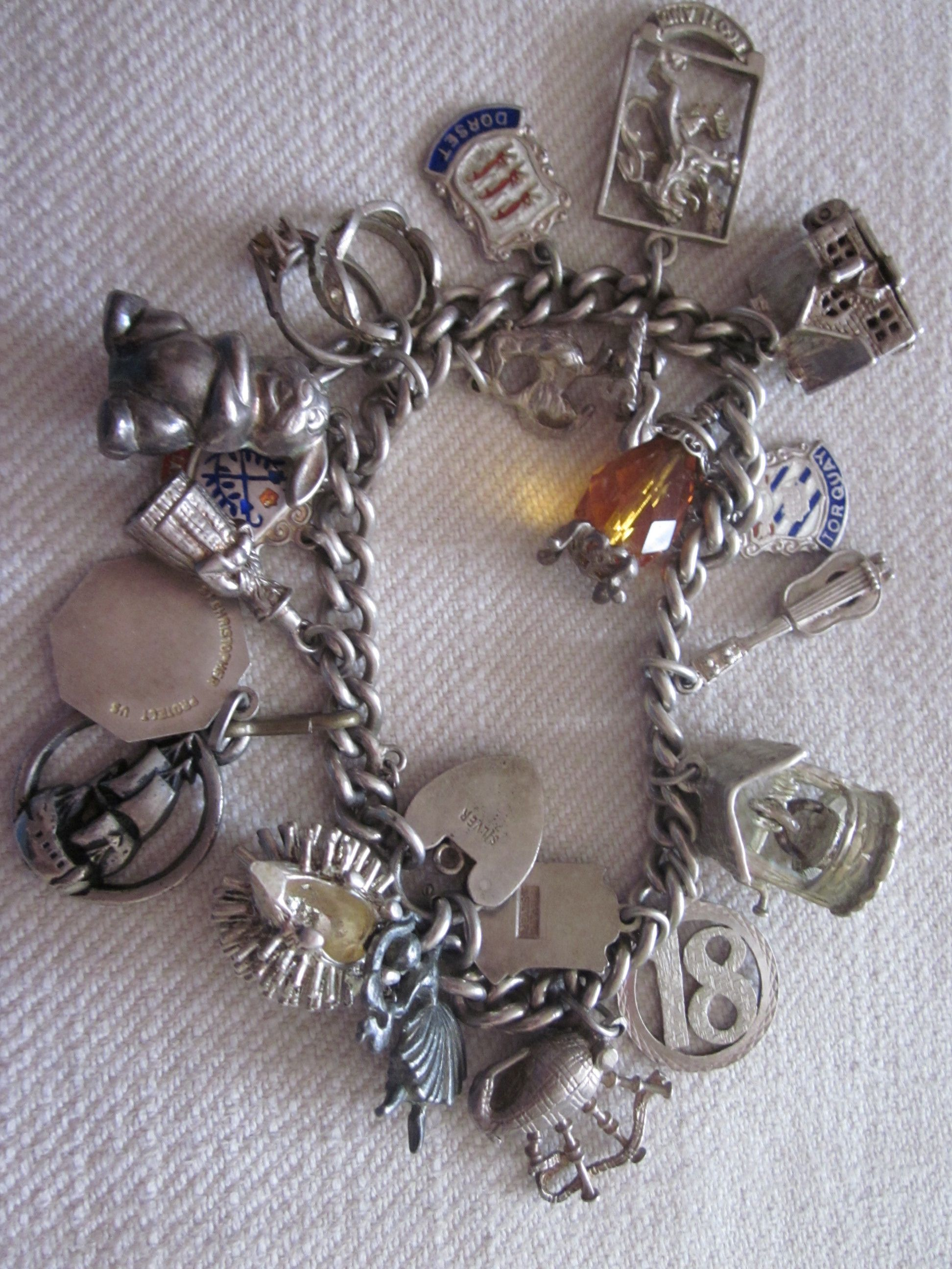 635bd85a61a 1960's charm bracelet, so much fun to collect charms that meant something  to my life.