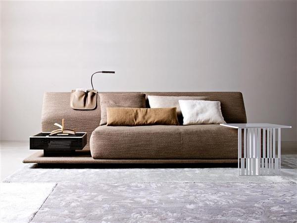 Fauteuil Design Marron Lin Canape Lit Confortable Canape Lit