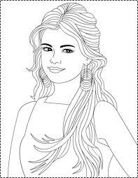 Selena Gomez Colouring Page Animal Coloring Pages Coloring
