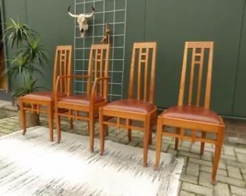 Design eetkamerstoelen eethoek stoelen stoel cognac leer