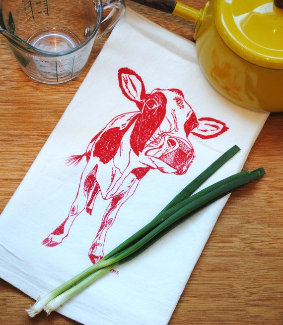 Dish Towel Screen Printed Organic Cotton $10 Click Here https://www.etsy.com/listing/178451850/dish-towel-screen-printed-organic-cotton?utm_source=Pinterest&utm_medium=PageTools&utm_campaign=Share