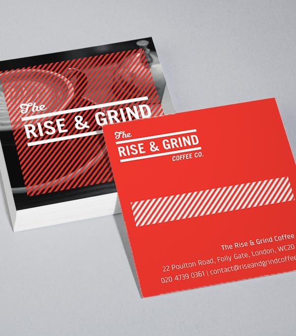 Square business card designs rise and grind graphic design square business card designs rise and grind graphic design pinterest business cards squares and business reheart Gallery