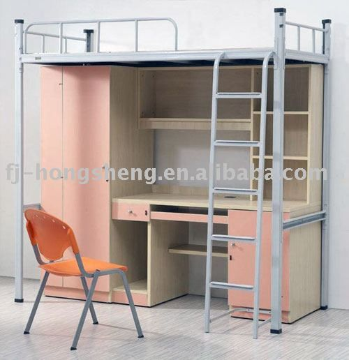 University Loft Bed With Study Table Adult Loft Beds 120 200 For