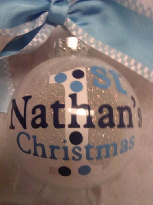 Custom+Personalized+Christmas+Ornament+Baby's+1st+by+all4mygirlz,+$12.99