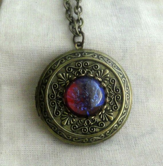 antique opal sale filigree blue locket lockets silver fire pin