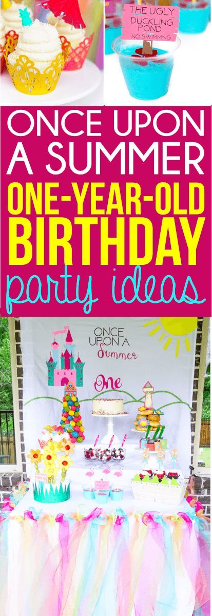 These Once Upon A Summer First Birthday Ideas Are Perfect For One Year Old Girl Of The Cutest Themes Ive Seen In Long Time