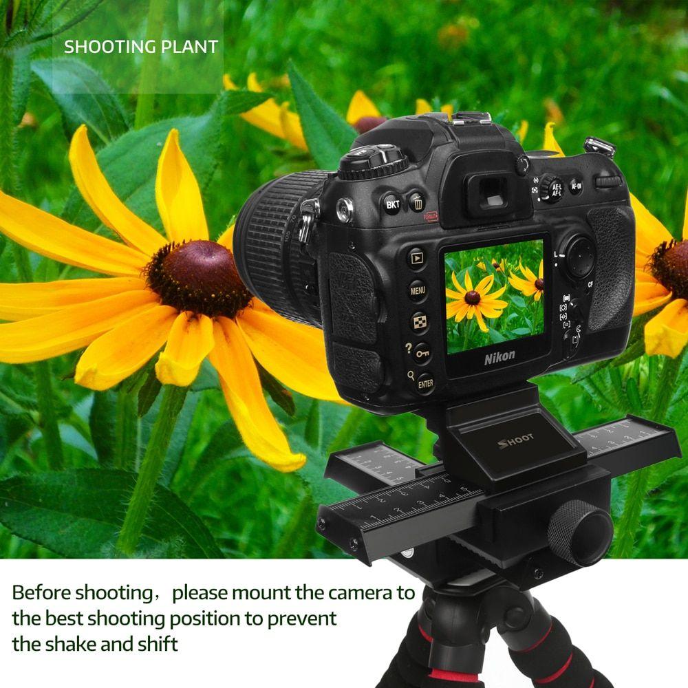 Pro 4 Way Macro-Focusing Rail Slider Close-up Shooting Photography Tripod HeadQR