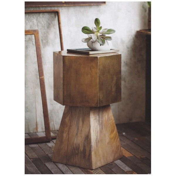 Brass-Clad Hexagon Side Table - gorgeous and timeless - our new favorite side table!