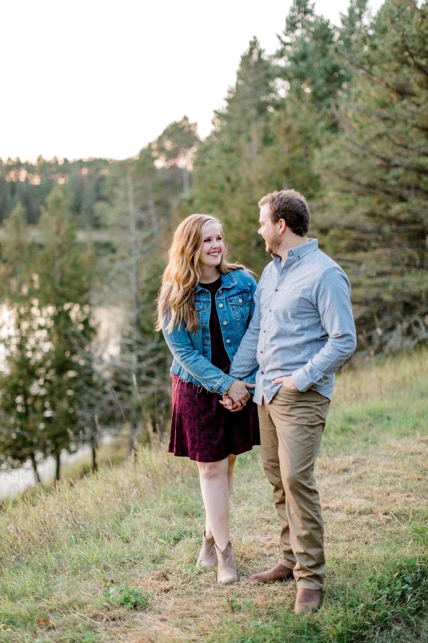 Itasca State Park Engagement Photos Fargo Wedding