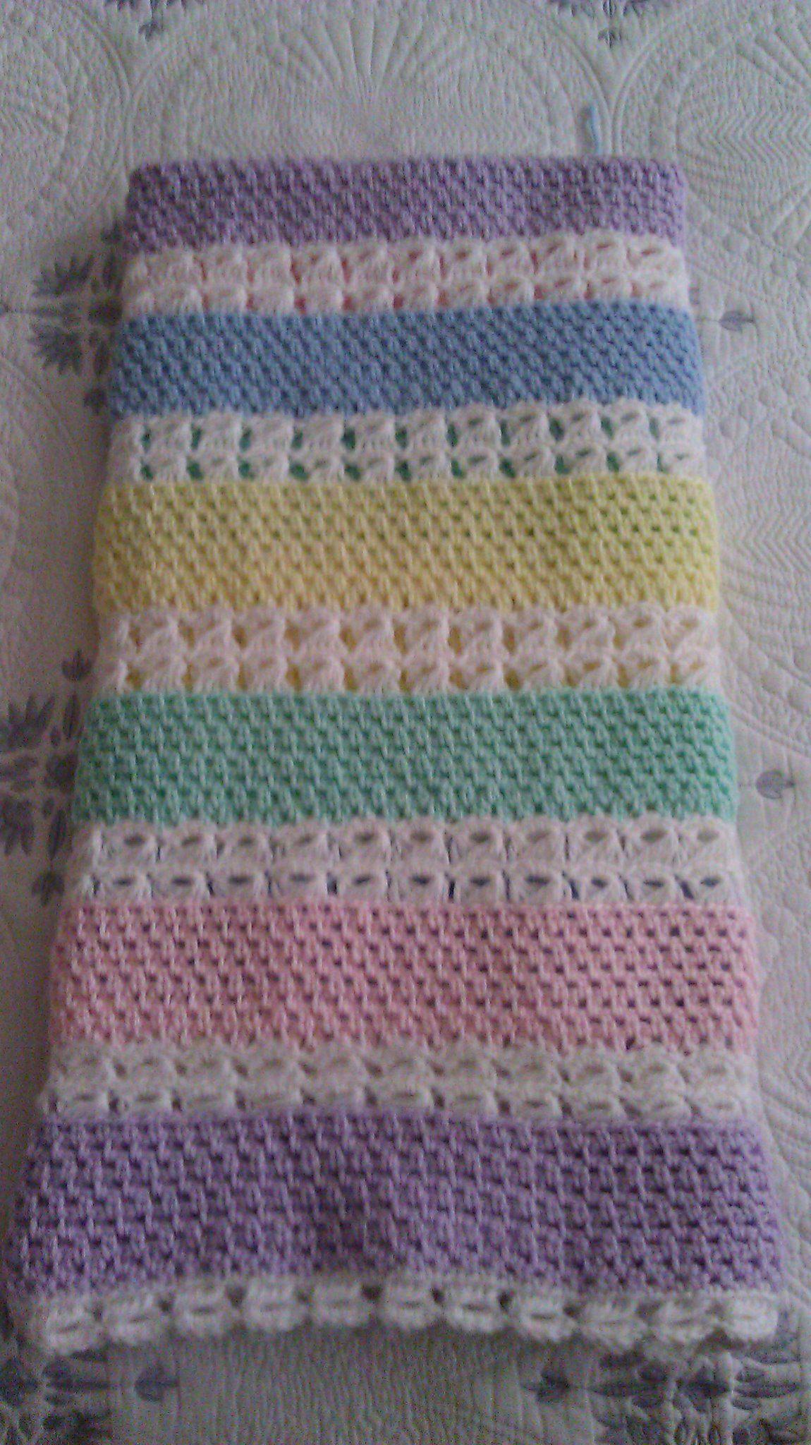 Broomstick Lace Baby Blanket Crochet Pinterest