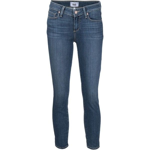 Paige cropped skinny jeans ($285) ❤ liked on Polyvore featuring jeans, blue, cropped jeans, paige denim skinny jeans, cropped skinny jeans, blue jeans and blue skinny jeans