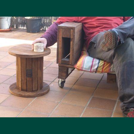 MUEBLES GRATIS CON PALETS: bobina | muebles para jardin | Pinterest ...