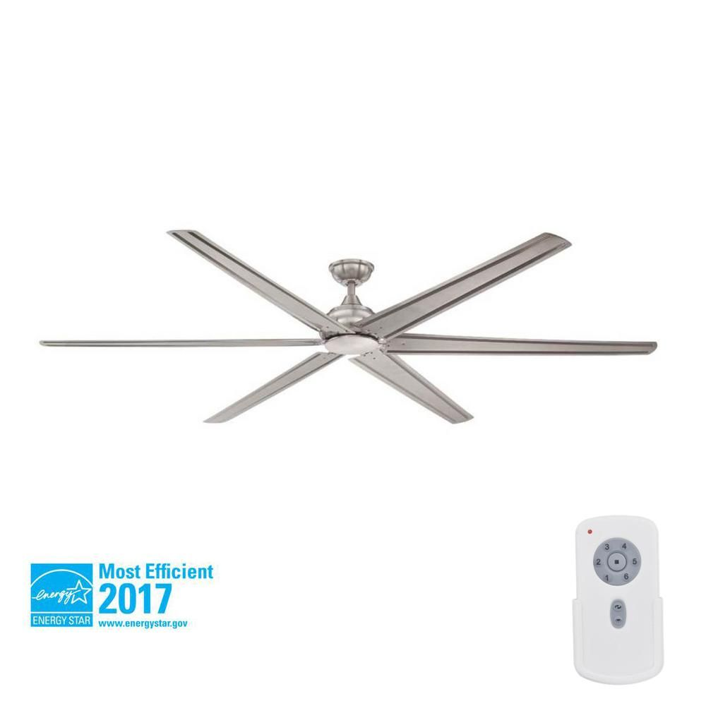 Home Decorators Collection Fenceham 84 In Indoor Brushed Nickel Ceiling Fan With Remote Control Ceiling Fan Brushed Nickel Ceiling Fan Ceiling Fan With Remote