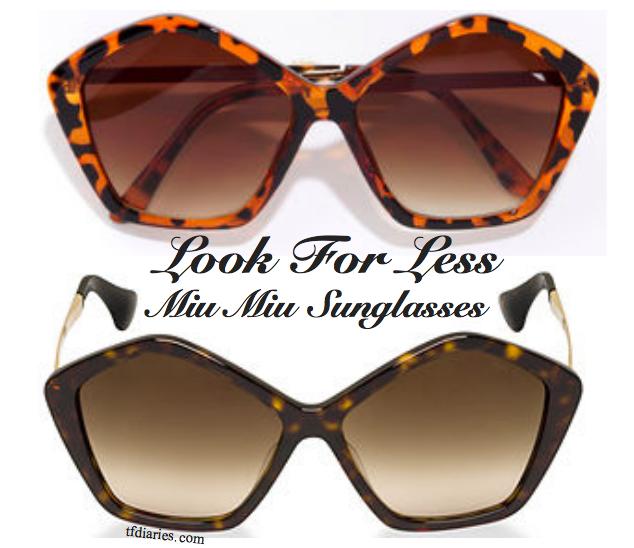 Miu Miu Dupe Sunglasses