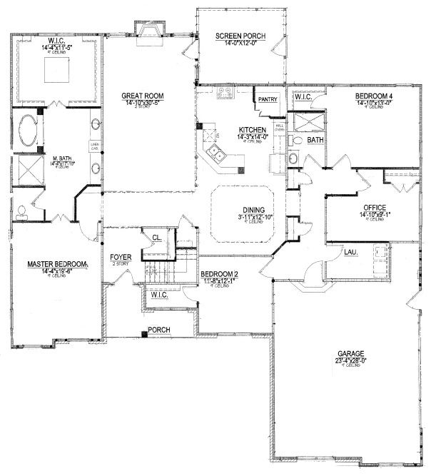 House Plans With Downstairs Master Bedroom Bedroom Floor Plans Floor Plans Master Suite Remodel