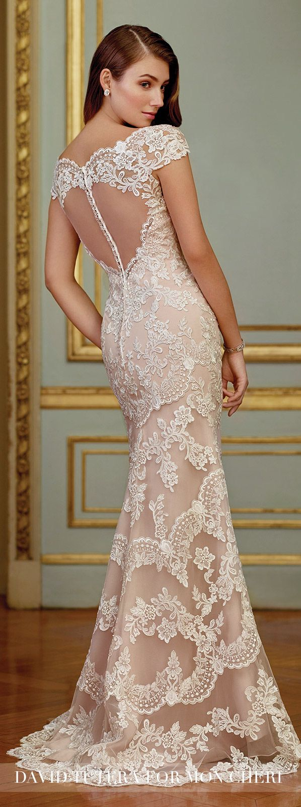 Vintage Embroidered Lace Fit & Flare Wedding Dress- 117291 Zerrin ...