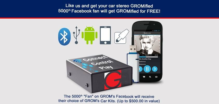 "In anticipation of GROM Audio's 5,000th Facebook ""like"" we"