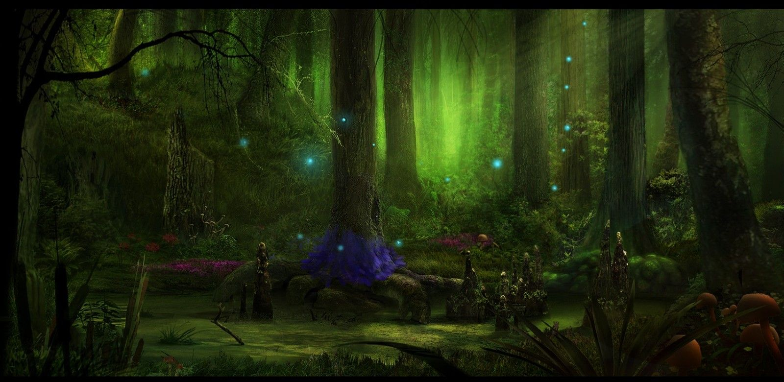 Fairy Tale Forest Viewing Gallery Tree Of Life Artwork Fantasy Art Landscapes Fantasy Landscape