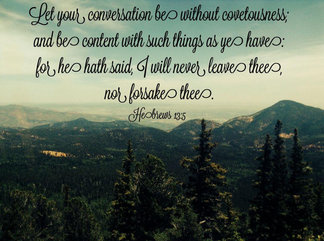 Hebrews 13:5 KJV | Scripture, Kjv, Verses