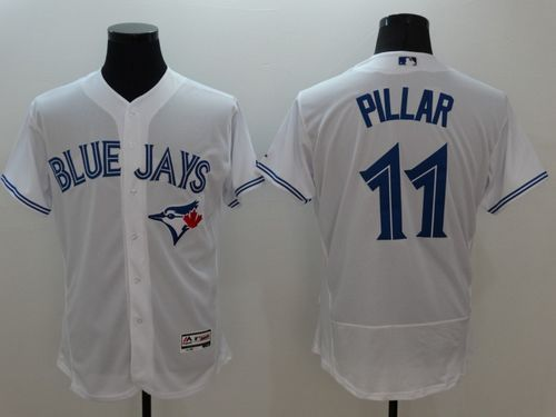 Blue Jays #11 Kevin Pillar White Flexbase Authentic