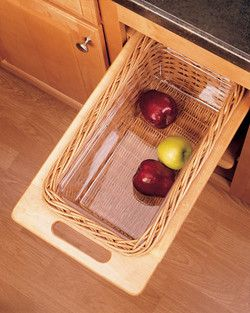 Pull Out Wicker Storage Baskets For Kitchen Cabinet By Rev A Shelf Kitchensource
