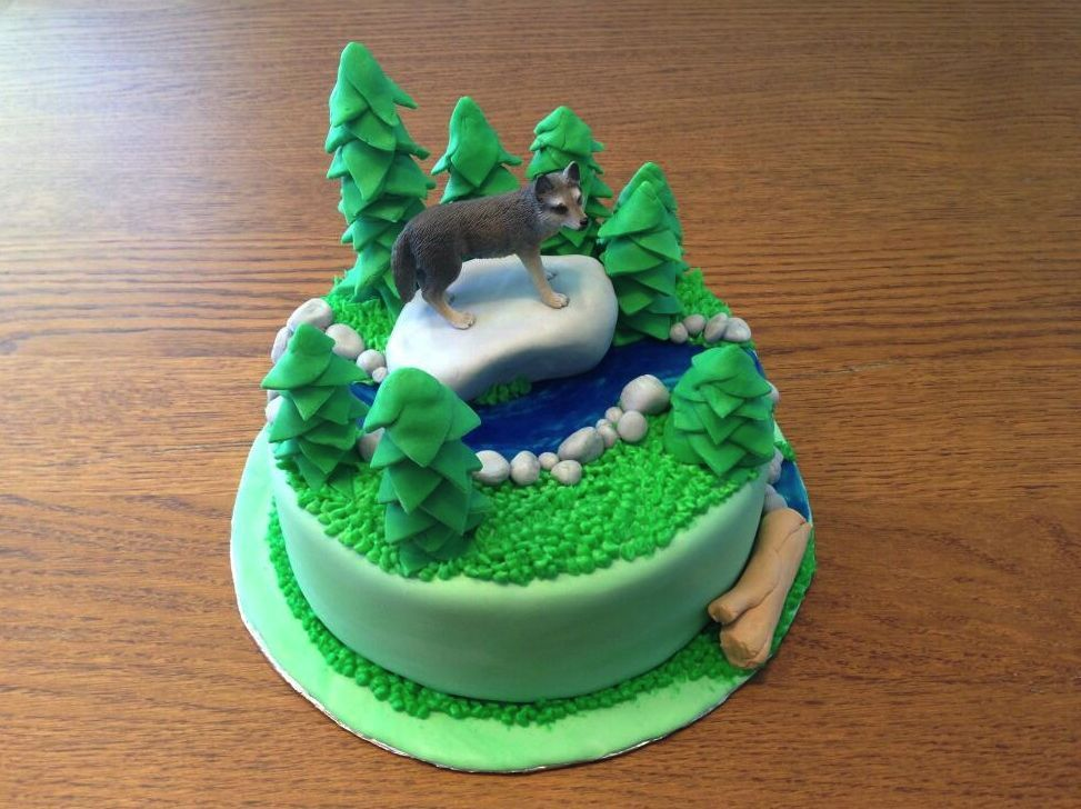 Wolf Birthday Cake Cakepins Com Abigail S B Day Cake
