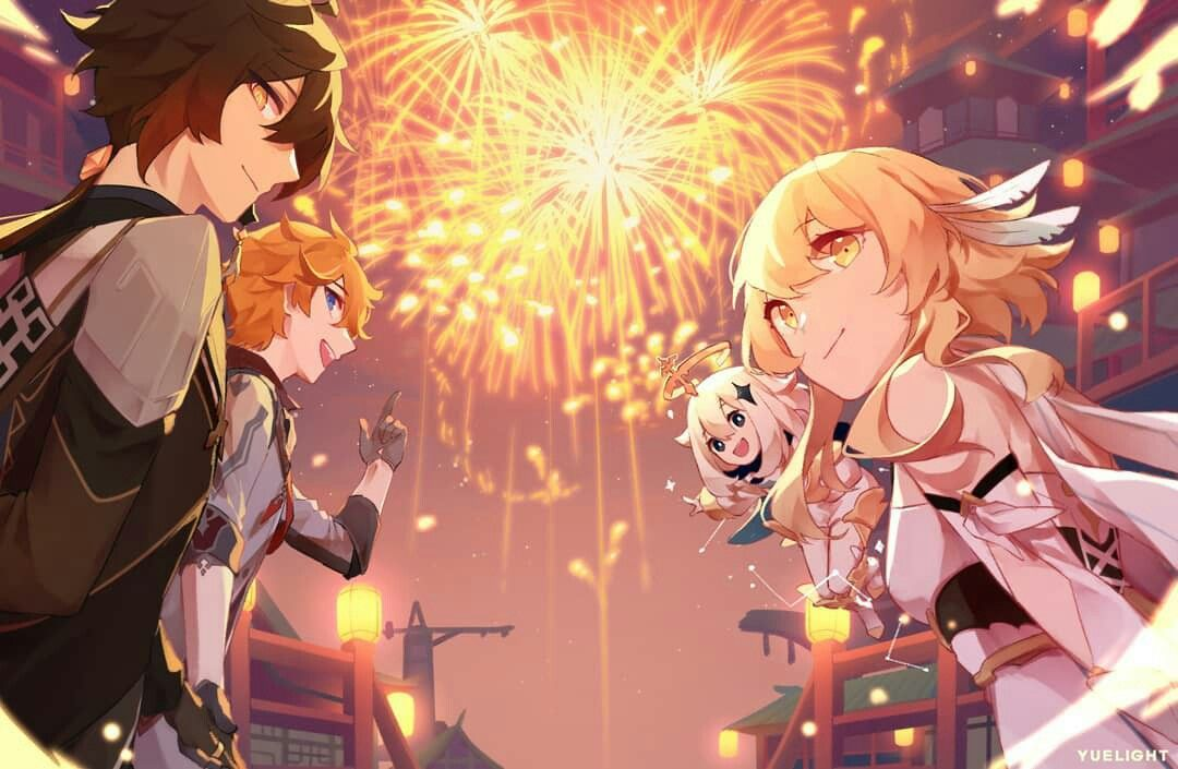 Happy New Year Credit Yuelight On Insta Anime Wallpaper Pc Anime Screenshots