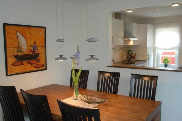 Dining area with hatch kitchen Durchreiche küche