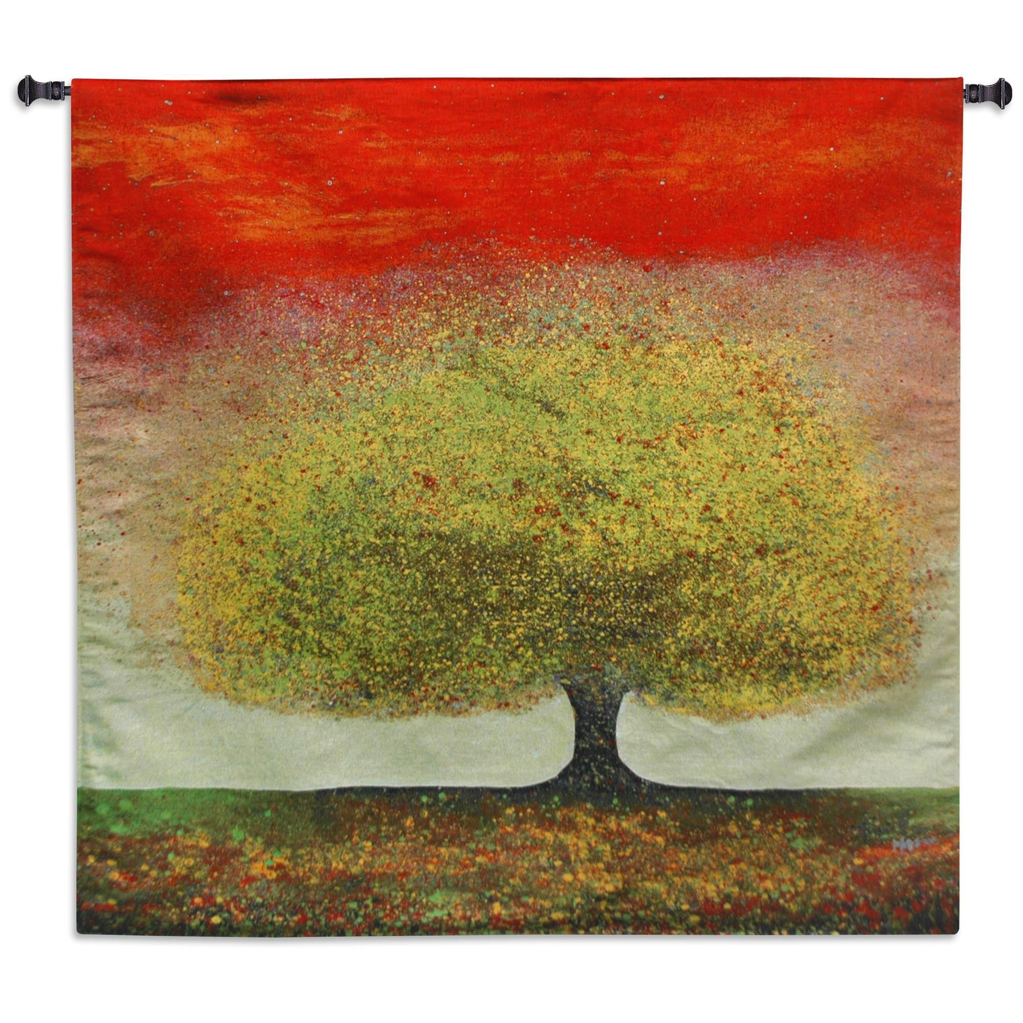 Dreaming Tree Red Wall Tapestry | Wall tapestries, Tapestry and Products