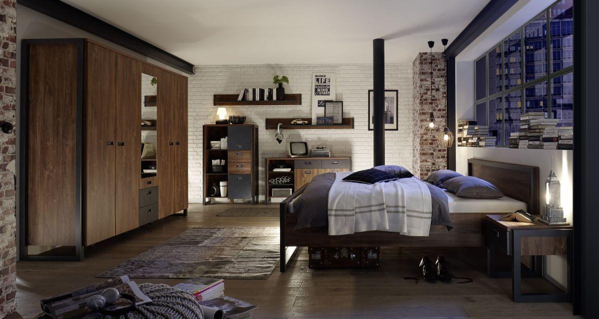 Steffen Schlafzimmer ~ Schlafzimmer mit bett in cm stirling oak matera imv