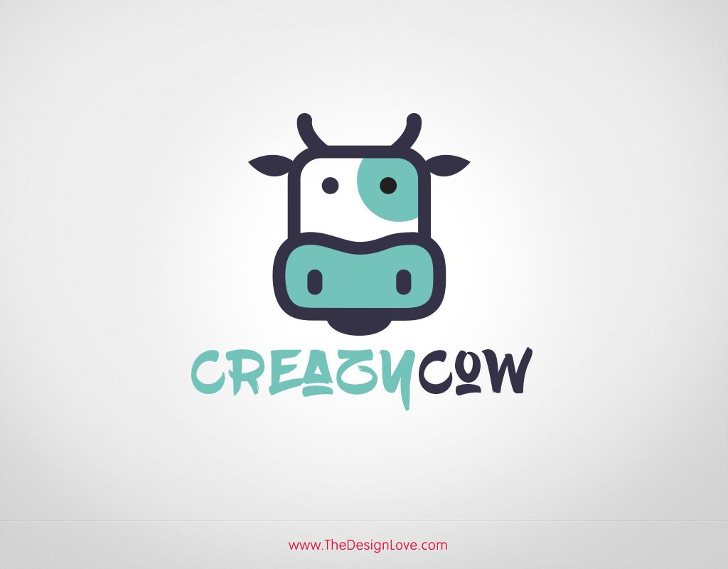 free vector cow logo for dairy farming business freebie love