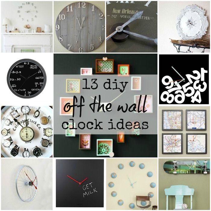 Diy Clock Ideas: 13 Diy 'off The Wall' Wall Clock Ideas