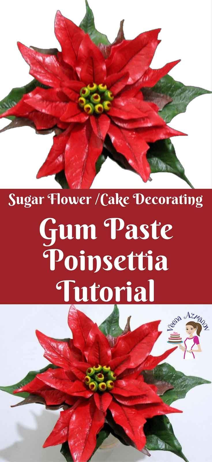 Gum Paste Poinsettia Tutorial How To Make Gumpaste Poinsettia Sugar