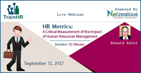 Hr Metrics A Critical Measurement Of The Impact Of Human
