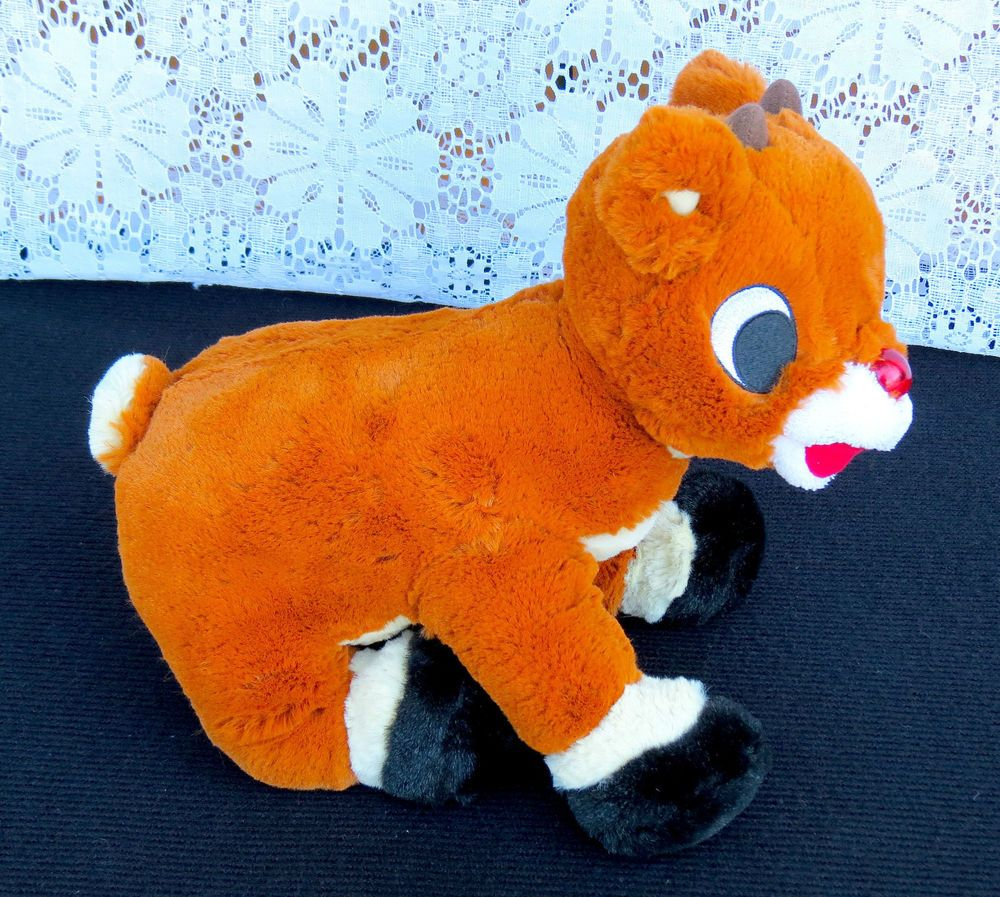 Rudolph Red Nosed Reindeer Adorable Plush Stuffed Toy 2005