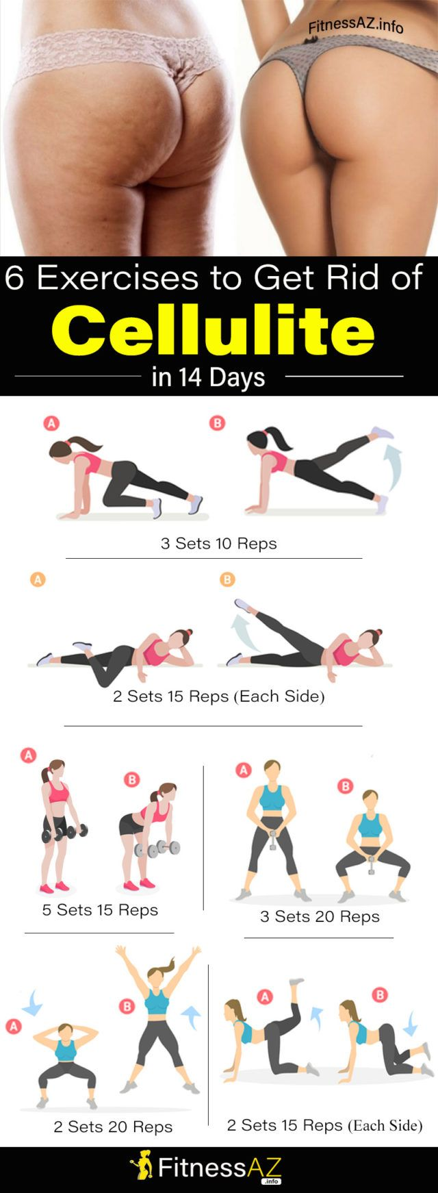 Exercises to Help You Get Rid of Cellulite in  Days fitness