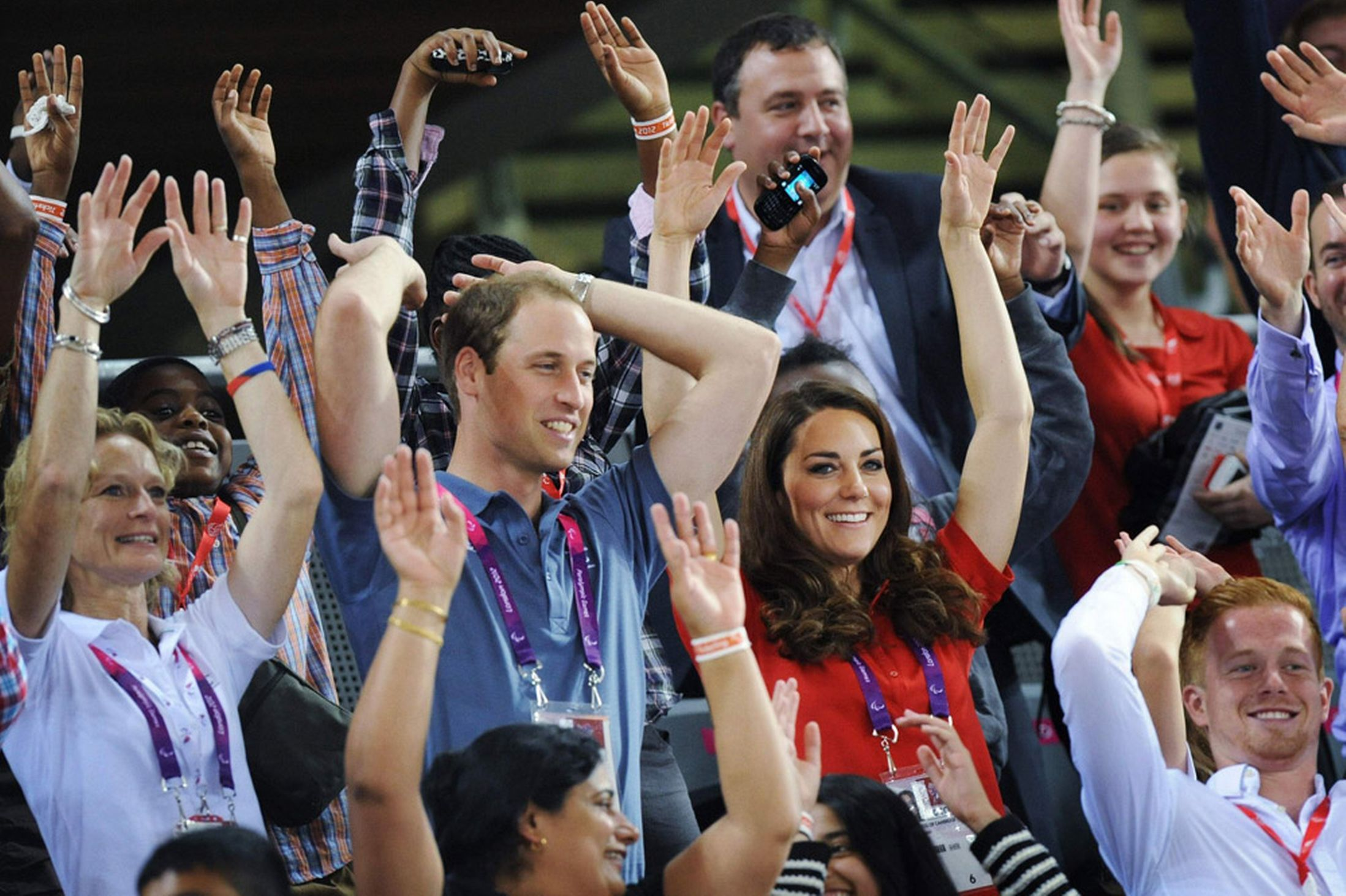 William and Kate are always game for a Mexican wave