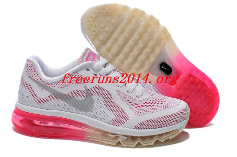 finest selection ebe00 0c91d MwOT7B White Fuchsia Red Nike Air Max 2014 Womens Running Shoes