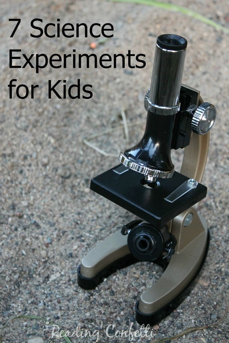 7 science experiments for kids
