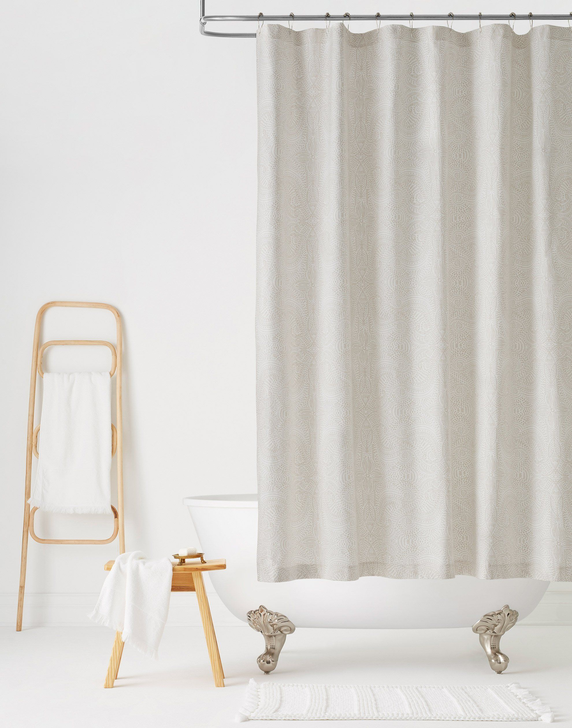 Andanza Taupe Shower Curtain Default Title Curtains Colorful