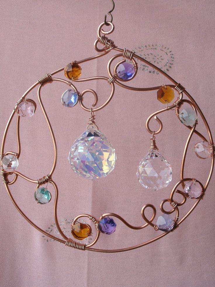 Copper, prisms, beads suncatcher . . . . ღTrish W http