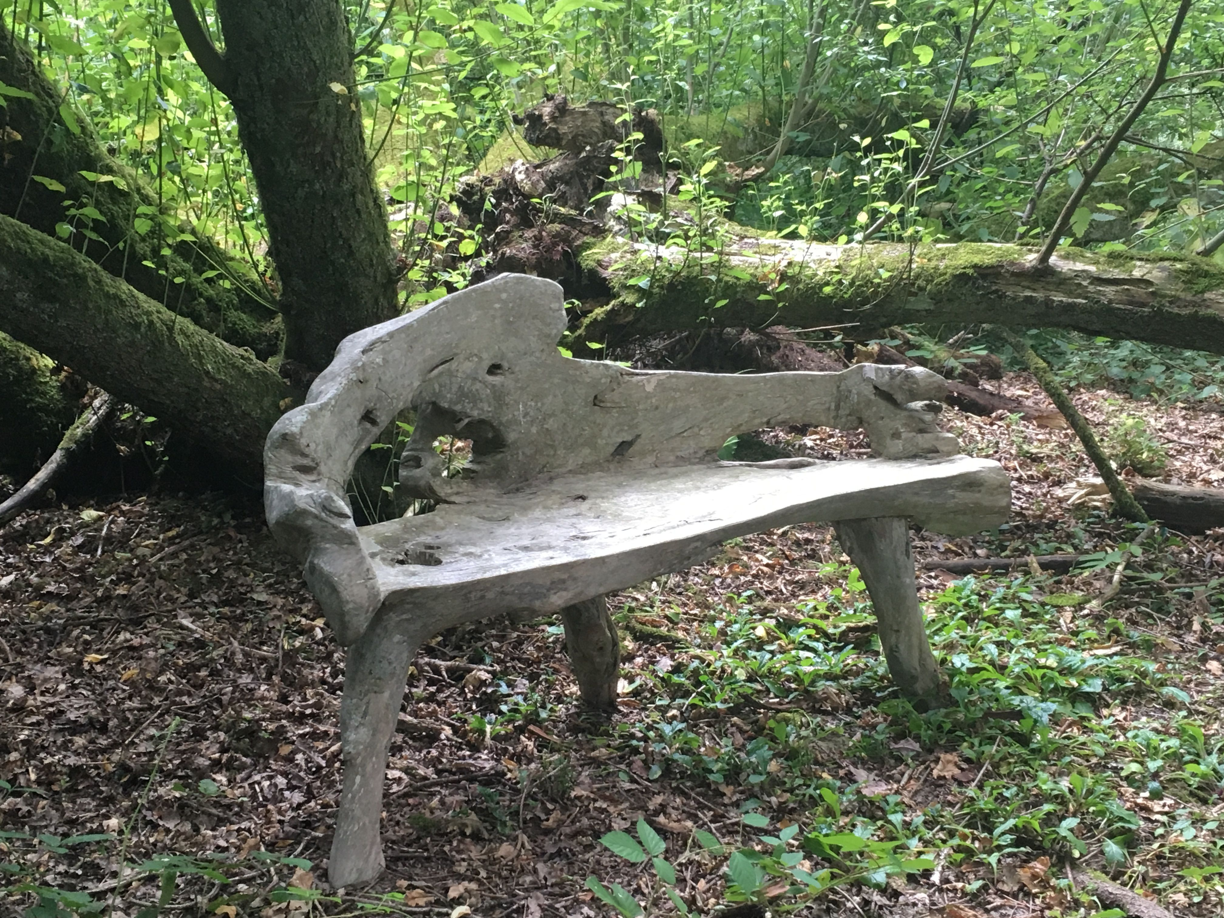 Phenomenal A Folk Garden Bench Of Naturalistic Form Primitive Gmtry Best Dining Table And Chair Ideas Images Gmtryco