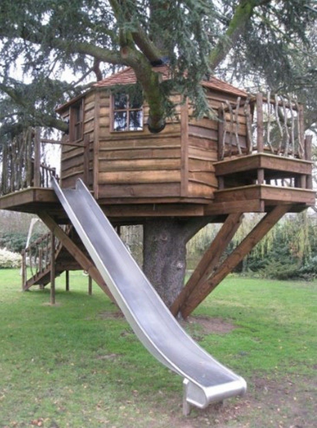 8 Ideas Amazing Tree Houses for Kids in 2020   Backyard ...