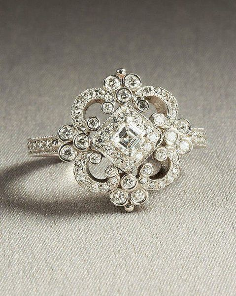 Wish Vintage Heirloom Engagement Ring Wedding rings
